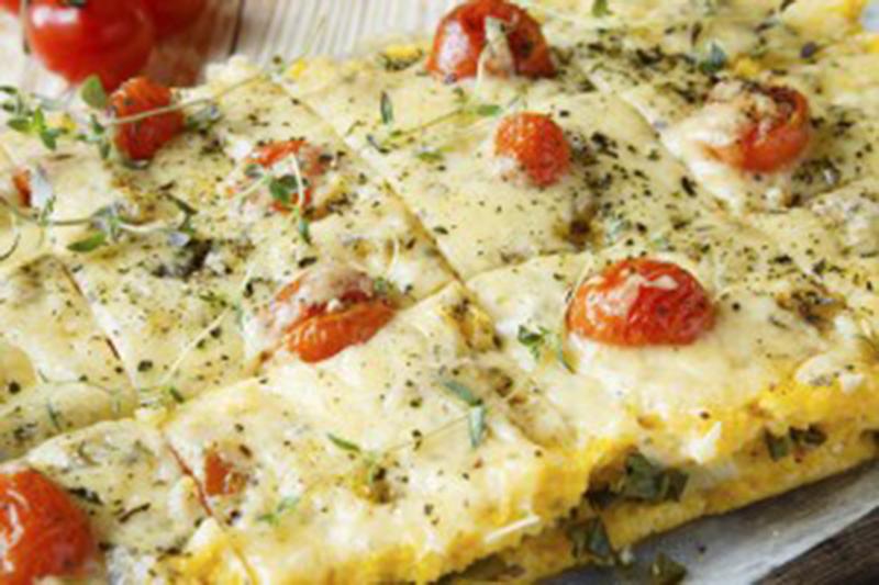 Imagen ilustrativa de polenta y brócoli