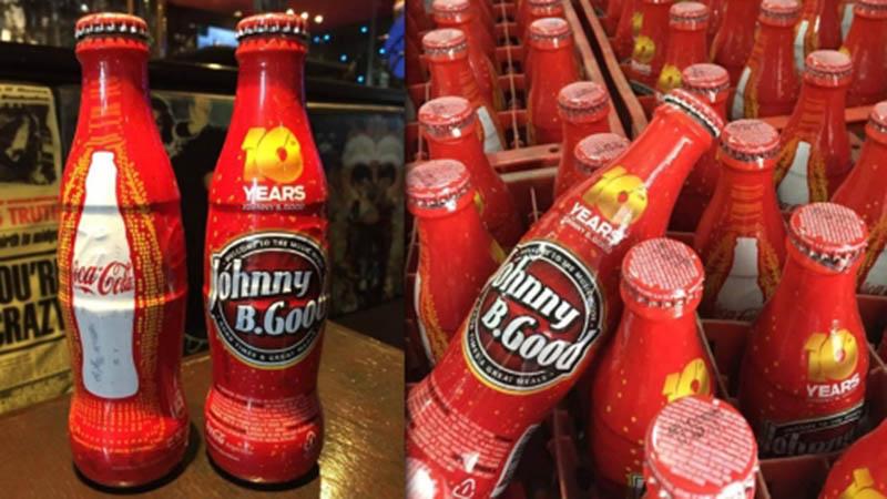 Edición especial de Coca-Cola en el aniversario de Johnny B. Good