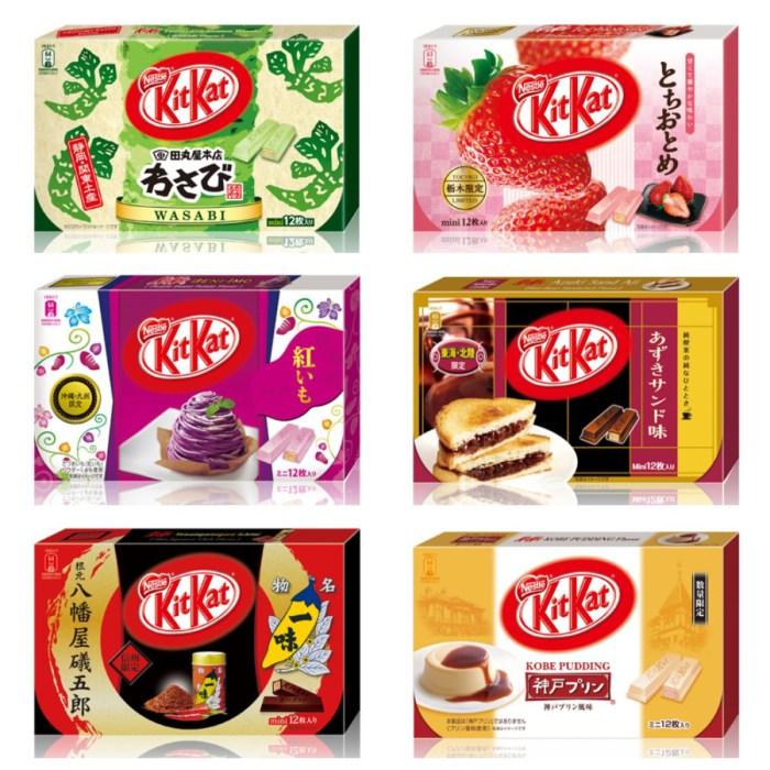 En Japón existen más de 200 variedades de Kit-Kat