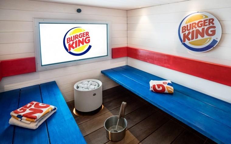 Un sauna antes de las hamburguesas