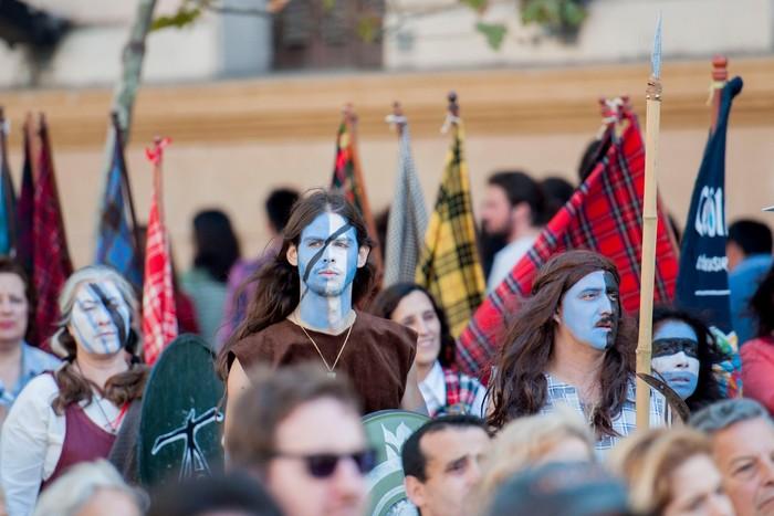 Shortbread y polleras kilt en la celebración de Escocia en Buenos Aires