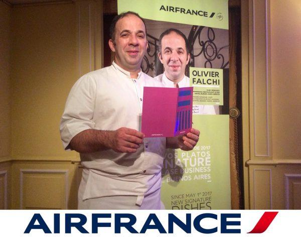 Olivier Falchi, el nuevo chef de AirFrance