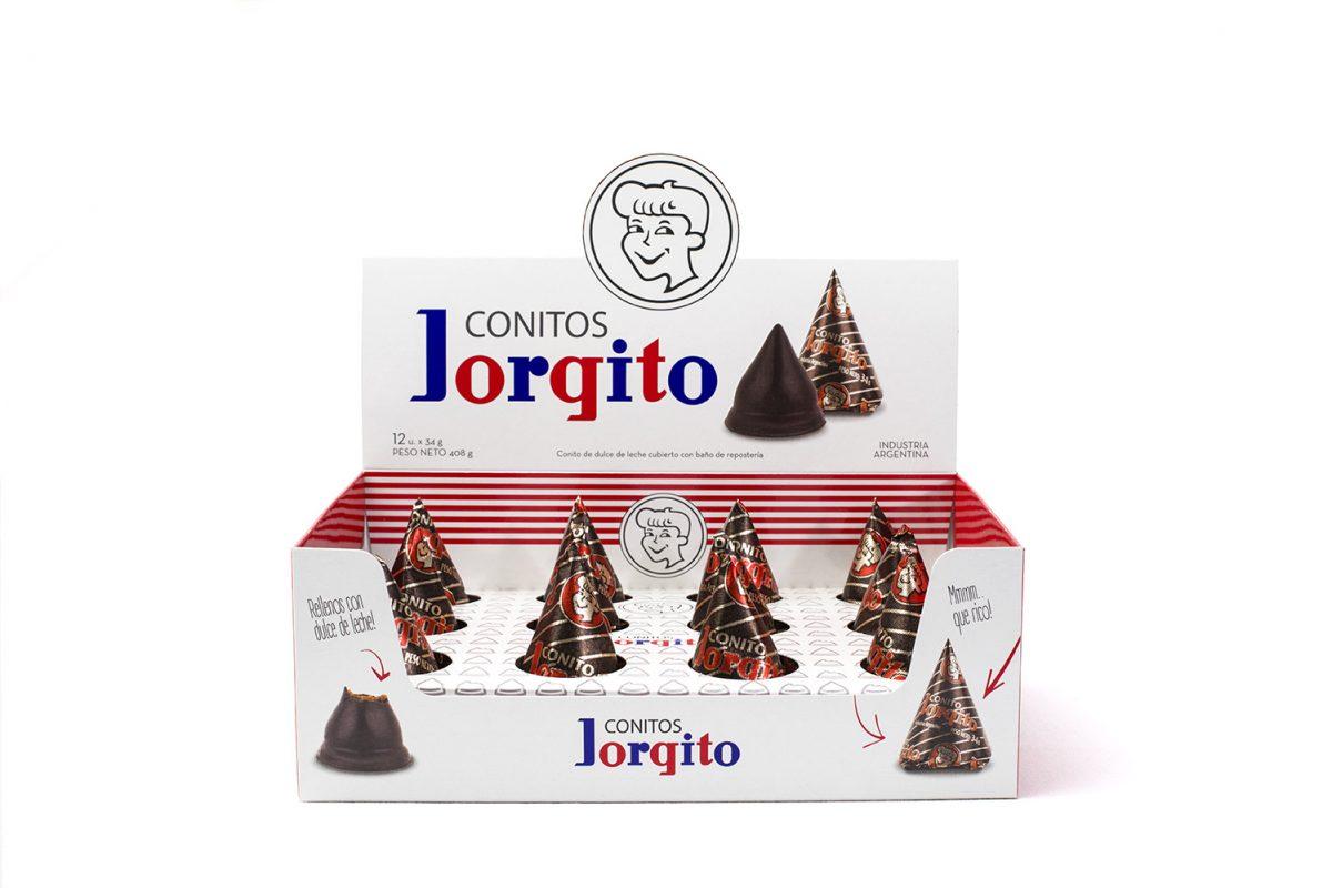 Porque con uno no alcanza… Jorgito lanza sus conitos de dulce de leche x 6